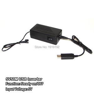 ¡Barato! Inversor de cable USB EL de 5 V alimentado por ordenador o batería móvil para decoración de fiestas conducción 50 m EL tira de alambre o EL