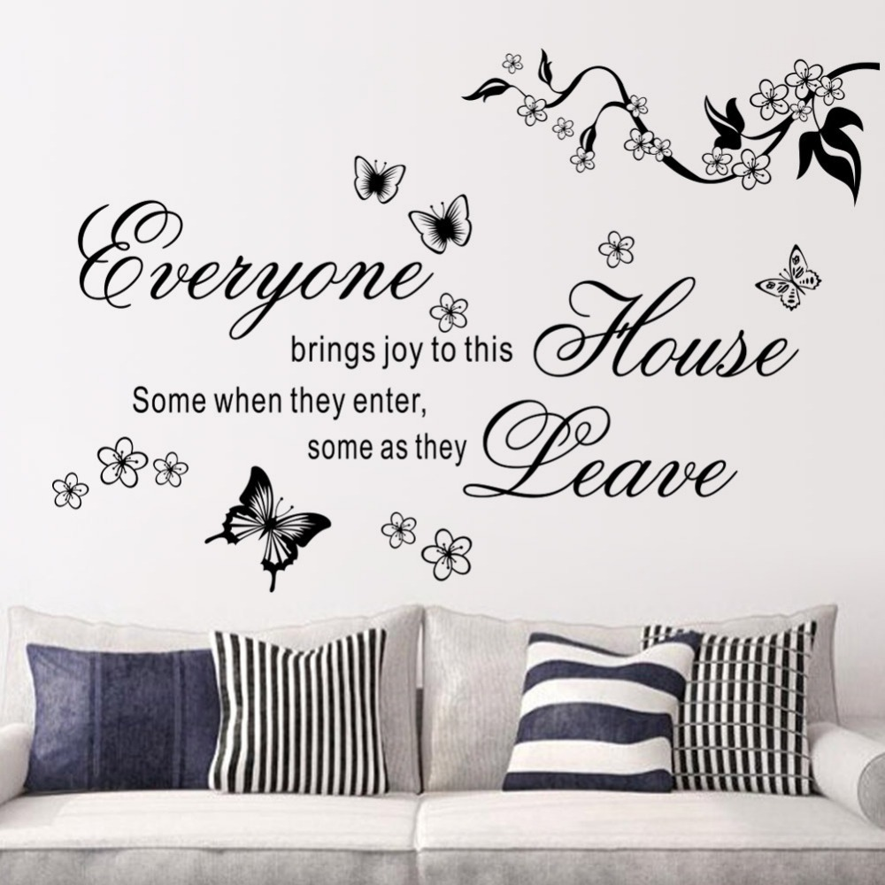 Cartoon Hot Butterfly Vine writing Room Wall Sticker Fashion Home Decorative Poster TV Background Wall Decal  sc 1 st  AliExpress.com & Hot Hearts Customizable Removable Shelf Art Characters Writing Vinyl ...