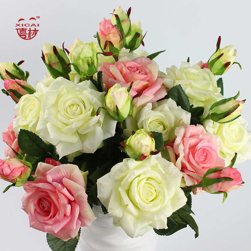 Buy artificial roses real and get free shipping on aliexpress mightylinksfo