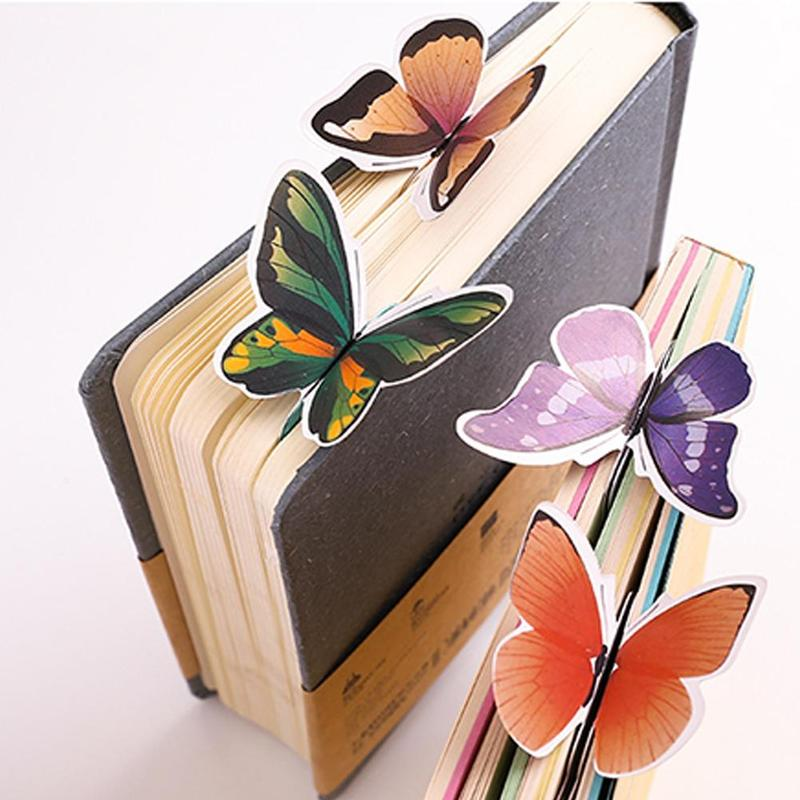 1pc Korean Cute Butterfly Bookmark Animal Paper Bookmarks Vintage Bookmarks Exquisite Gift Bookmark Stationery Supplies