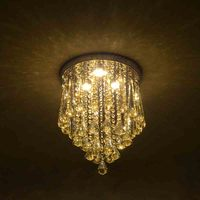Modern Minimalist Crystal Ceiling Light LED Ceiling Lamp Creative Home Decoration Lamps Lights Bedroom Hallway Fixture