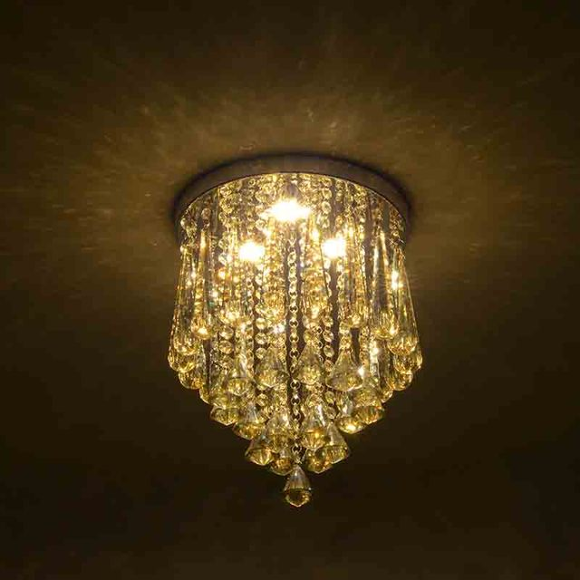 Modern Minimalist Crystal Ceiling Light LED Lamp Creative Home Decoration Lamps Lights Bedroom Hallway Fixture CL157