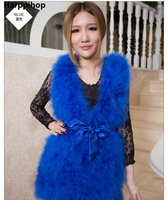 Hot Sale New 2017 Women Winter encryption 100% natural ostrich feathers turkey feather fur vest vest fur coat Fur Coat