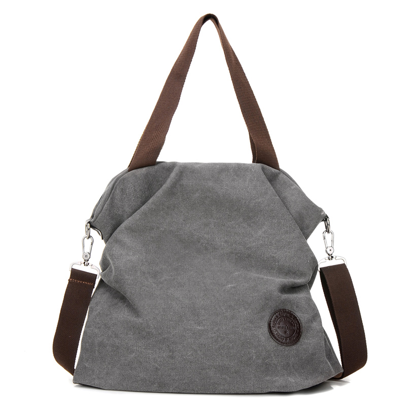 New Fashion Women Messenger Bags Solid England Style Big Capacity Canvas Handbag Tote Shoulder Bag Casual Crossbody Bag Grey new woman shoulder bags cute canvas women big bags literature and art cartoon girls small fresh bags casual tote