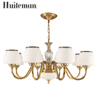Huiteman Contemporary Chandeliers Shades 6 Light Living Room Kitchens For Foyer Chandeliers Hotel Fashion Atmosphere Gold