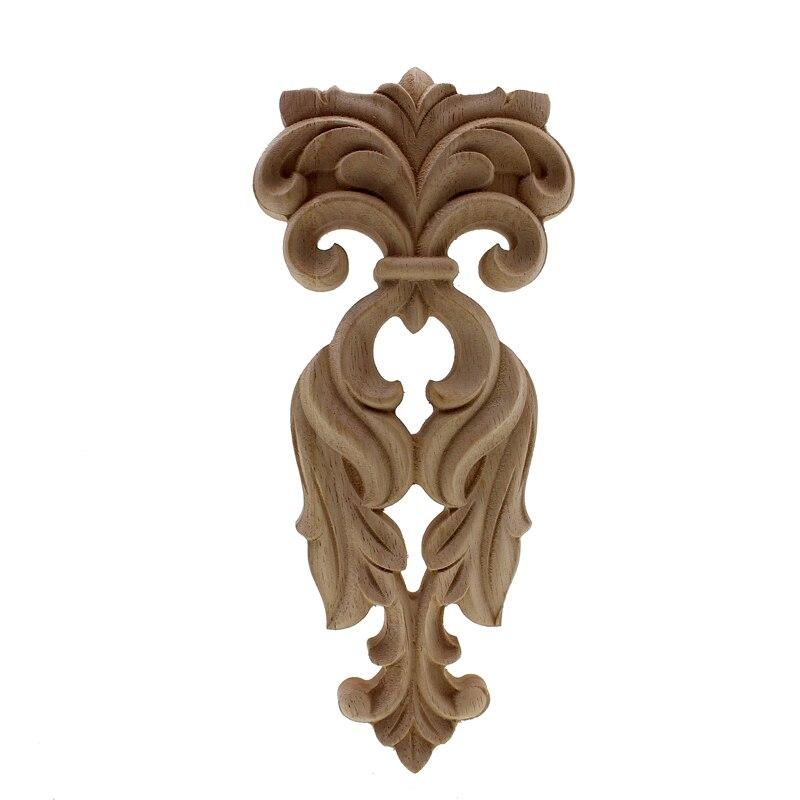 RUNBAZEF bois sculpté Applique non peint décor à la Maison Style européen cheminée porte dieu scène stigmate pilier décoration Maison