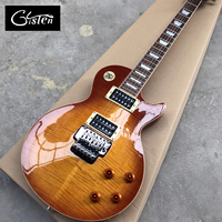 Gisten New style LP Standard 1959 R9 electric guitar, Flame Maple Top electric guitar, floyed rose tremolo bridge, Free shipping