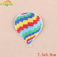 ZOTOONE 50Pcs Funny Hot Air Balloon Patches Patches Set Kids Girls Clothes Cartoon Stickers Embroidered Applique Iron On Patch