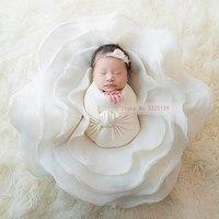 2018 יילוד צילום Props Flokati פרח אמבטיה פוזות סלי רקע תינוק פוטושוט אביזרי צילומי רקע