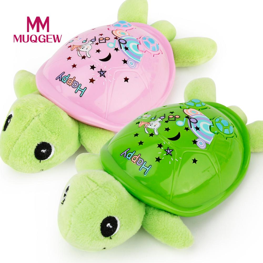 MUQGEW Brand Electronic Toys happy Baby Kawaii Cartoon Music Tortoise Projection Lamp Educational Toy Gift For Kids