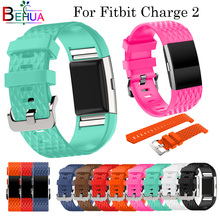 Outdoor sport Silicone Watch Band For Fitbit Charge2 smart watch Bracelet strap WristBand Charge 2 Replacement