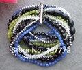 Stunning! 11 Strands Onyx Crystal Jade Bracelet