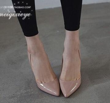Manmitu Free shipping 2017 Korean Bride Shoes Women Pumps Office Lady Fashion Pointed Toe High Heels