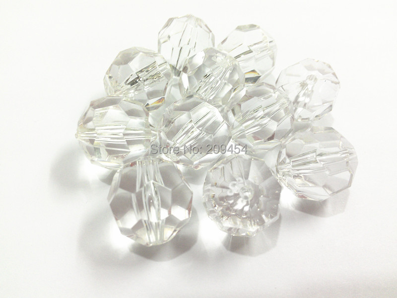Clear Transparent Big Faceted Beads