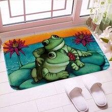 Зеленая лягушка коврик Ванная комната коврики цифровой печати традиционные пол Кухня коврик ковер мягкий хороший подарок для домашнего декора