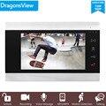 Dragonsview AHD 720/960P 4 провода 7 дюймов внутренний монитор видео домофон CVBS/AHD видео вход запись обнаружения движения