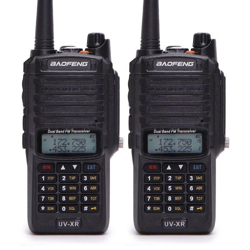 2 pcs Baofeng UV-XR 10 W Haute Puissance IP67 Étanche Radio Bidirectionnelle Double Bande De Poche Talkie Walkie pour la chasse randonnée pleut