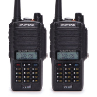 2pcs Baofeng UV XR 10W High Power IP67 Waterproof Two Way Radio Dual Band Handheld Walkie