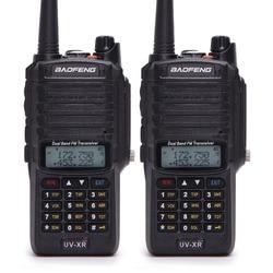 2pcs Baofeng UV-XR 10W High Power IP67 Waterproof Two Way Radio Dual Band Handheld Walkie Talkie for hunting hiking raining