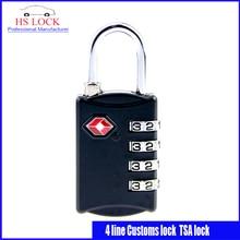 Costumbres candado TSA309 bloqueo de Contraseña Negro 4 línea de cerraduras de Equipaje bloqueo antirrobo profesional suministros de cerrajería