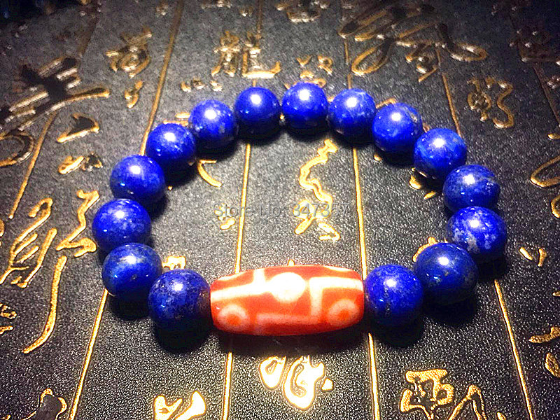 100% natural lapis lazuli 12mm ball agate red DZI string bracelet men&women jewelry 9 eyes lotus and other patterns optional ethnic wind bracelets men and women decorations green agate 925 silver ball duobao string original jewelry