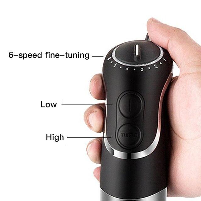 850W Multi-functional Portable Blenders Handheld Mixer Stirrer Immersion 4 In 1 Hand Blender Food Processor Set 4