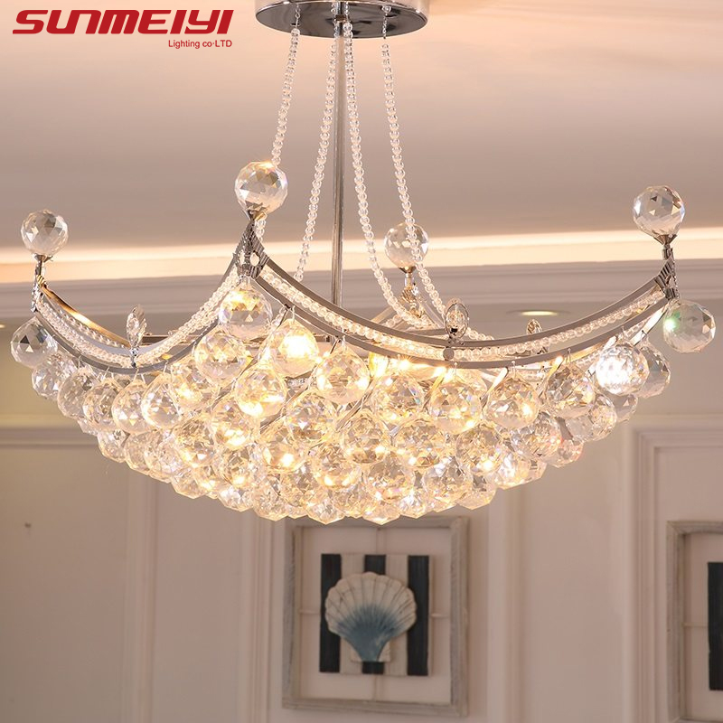 2017 New Style Crystal <font><b>Chandelier</b></font> Lighting Fixture Crystal <font><b>Light</b></font> Lustres de cristal for Living Room Ceiling Lamp Free Shipping