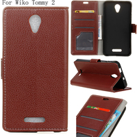 BOGVED Litchi Series Luxury High Quality PU Leather Case For Wiko Tommy 2 Tommy2 Bag Cover