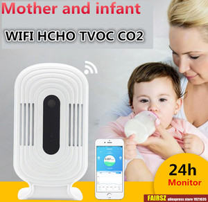 Image 1 - WIFI الذكية كاشف الغاز الفورمالديهايد الهواء جودة محلل HCHO TVOC CO2 ميزان الحرارة الرطوبة رصد ثاني أكسيد الكربون