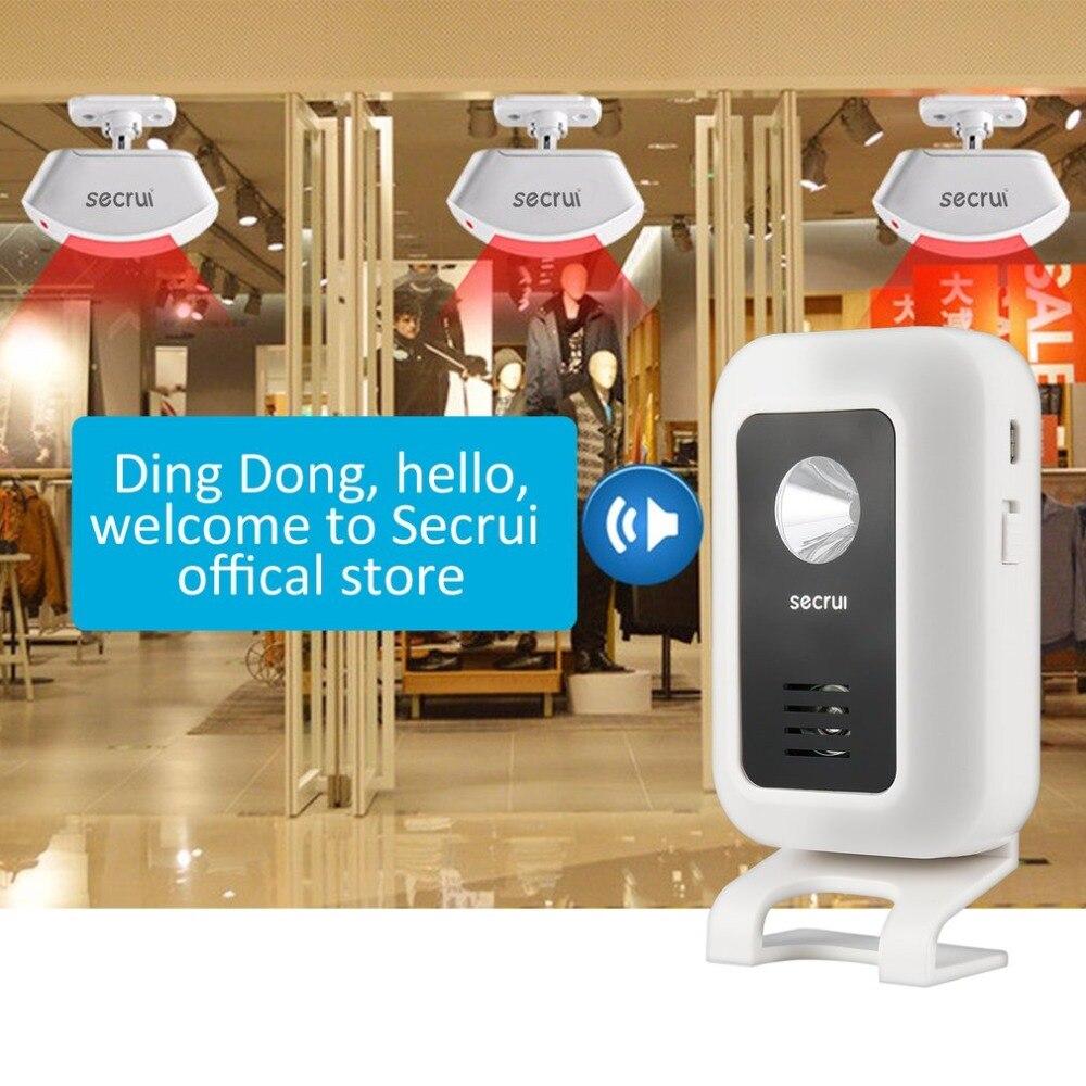 Sonnette sans fil bienvenue IR capteur de mouvement infrarouge alarme 280 M gamme maison boutique porte cloche magnétique carillon veilleuse sourde