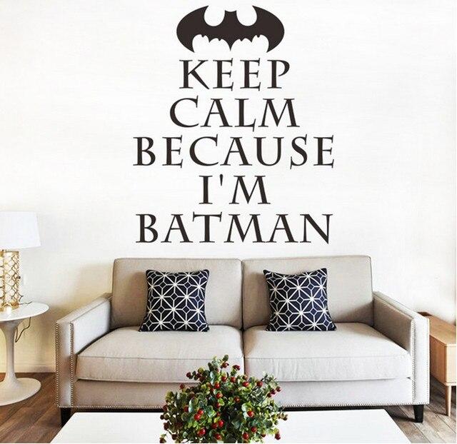 HOUD KALM Engels Batman Superman Spider Muursticker Voor Kinderkamer ...