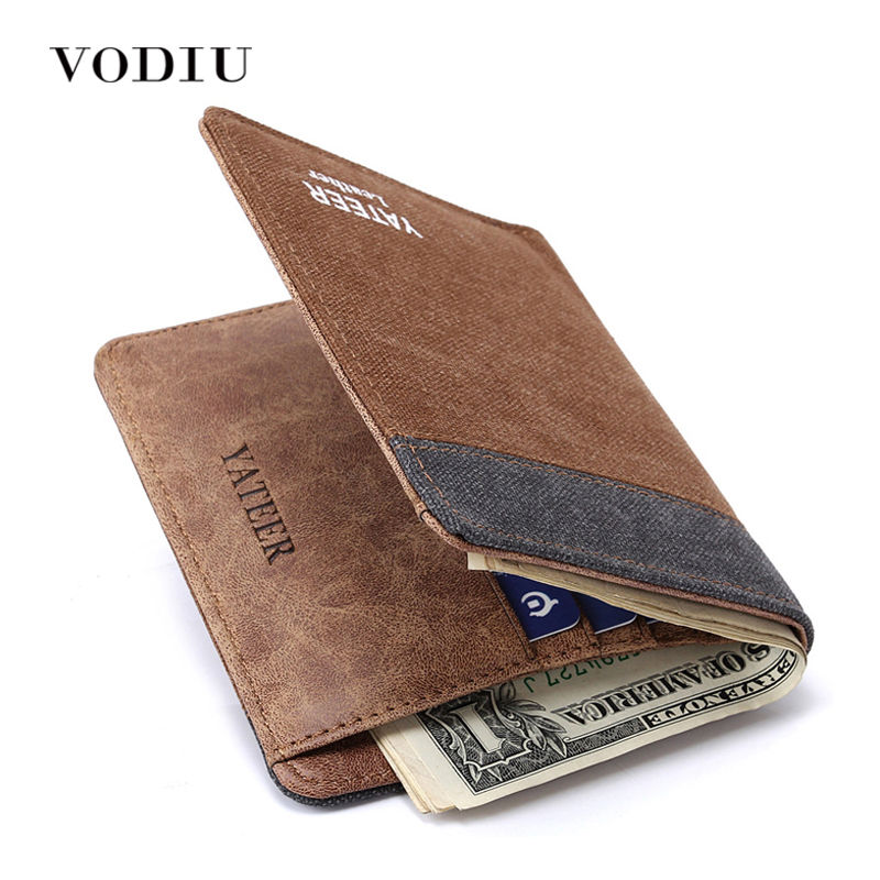 Wallet Men Vintage Jeans Canvas Purse Slim Small Card Holder Coin Purses Male Clutch Fashion Thin Wallet Clamp For Money Purse 2017 jeans for women new thin slim trousers pencil pants high waist small jeans plus size xl 5xl fashion vintage blue jeans