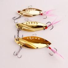 1Pcs Metal VIB Lures 10g 16g 23g Vibration Spoon Lure Fishing Lure Bass VIB bait artificial bait cicada lure vib bait