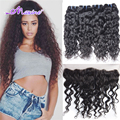 Brazilian Virgin Hair With Closure Water Wave Brazilian Hair Ear to Ear Lace Frontal Closure With Bundles Curly Weave Human Hair