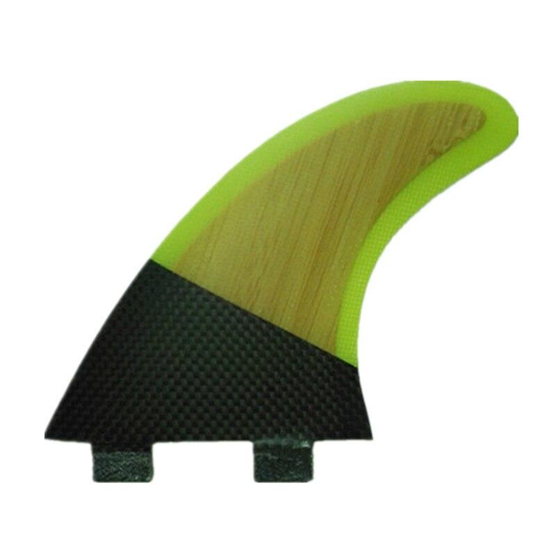 G5 planche de surf ailettes 3 pcs/ensemble compatible fsc bambou carbone & clear sélectionnez couleur système surfer nageoire planche de surf ailettes