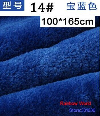 Cobertores de Pelúcia Tecido de Veludo Velboa para Faça Brinquedos de Pelúcia Azul Velo Minky pv Você Mesmo Animal Cão Casa 100*165 cm 14 8mm