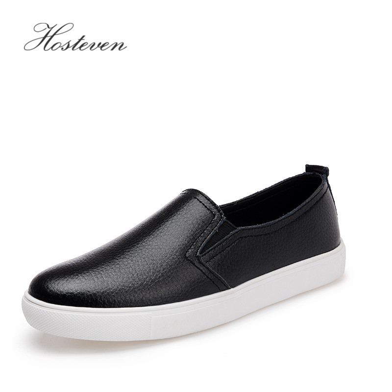 Hosteven Women's Shoes Casual Genuine Leather Moccasins Ladies Driving Shoe Woman Loafers Female Flats Mother Footwear Shoes women s shoes casual genuine leather woman loafers female flats leisure ladies mother driving shoe solid boat shoes