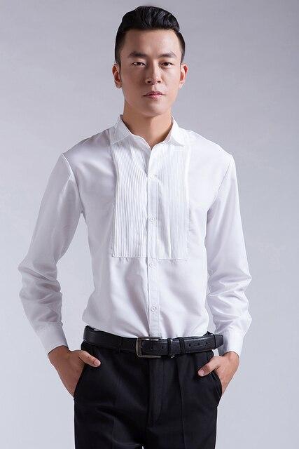 Hombres Delgado temperamento camisa con traje traje de moda salvaje camisa blanca rendimiento del host do260