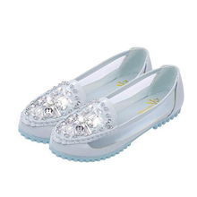 2016 new summer diamond mesh shoes Peas shoes flat shoes with mesh wholesale W164