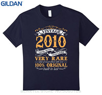 GILDAN Newest 2017 T Shirt Men Tshirt Vintage Born In 2010 7th Birthday 7 Years Old