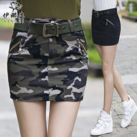 2015 Summer Fashion Ladies Casual Camouflage Skirts 3 Colors High Quality Sexy Over Hip Camo Cargo