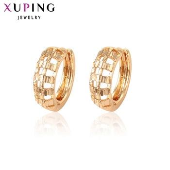 bc2130a3539f Xuping pendiente temperamento damas pendiente de aro nuevo de diseño de  alta calidad de joyería de regalo de Navidad S90 4-96425