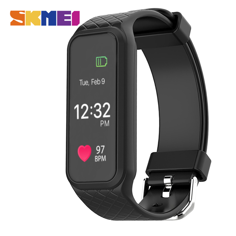 цена на SKMEI Smart Wristband Heart Rate Monitor Colorful Screen Pedometer Sports Watches Fashion Digital Smart Watch Android IOS