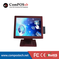 15 Inch Touch POS Terminal Cash Register Commercial Computer POS2119 Direct Touch Pos With Reader Card