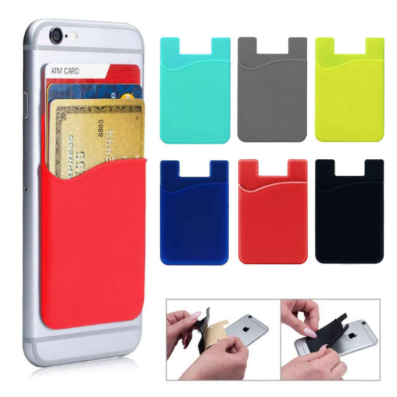 sale retailer 854bc d5c9b Phone Case 3M Adhesive Silicone Card Holder for iPhone Samsung Back ...