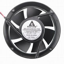 цены Gdstime DC 24V 170MM Double Ball Bearing Metal Inverter Brushless Cooling Fan 17CM 17251