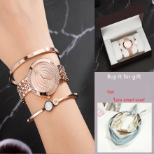 Top Designer 3 PCS Women Bracelet Watch Set Include 2 Bracelet/1 Watches/1 box Big Gift for girlfriend hot