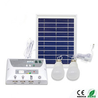 New Solar Mobile Lighting System Photovoltaic Power Generation Camping Tent Eemergency Charging Mobile Phone 2LED Bulbs