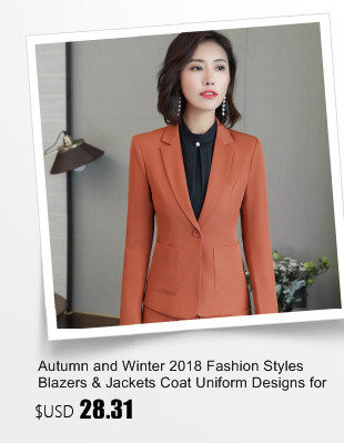 100% Baru Desain seragam Untuk Wanita Kantor Formal Blaser Mantel Warna   Hitam 3002530888