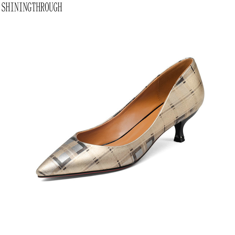 Genuine leather breathable pointed toe skid resistance comfortable pumps all-match style appointment woman shoesGenuine leather breathable pointed toe skid resistance comfortable pumps all-match style appointment woman shoes